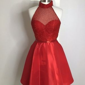 Red Sherri Hill Cocktail Dress